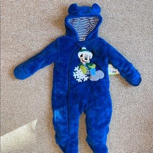 Disney Mickey Mouse 9 month fleece warm suit
